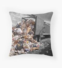 Power Dump Throw Pillow