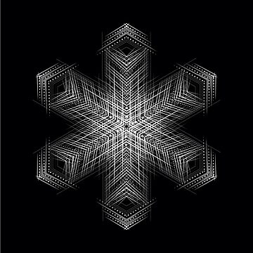 Black white mandala flower by GeometricEye