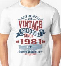 be5a332099 vintage established 1981 Unisex T-Shirt