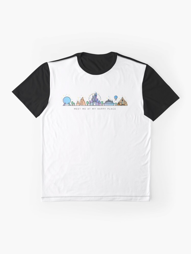 Alternate view of Meet me at my Happy Place Vector Orlando Theme Park Illustration Design Graphic T-Shirt