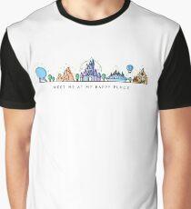 Camiseta gráfica Encuéntreme en mi lugar feliz Vector Orlando Theme Park Illustration Design