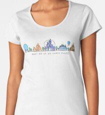 Meet me at my Happy Place Vector Orlando Theme Park Illustration Design Women's Premium T-Shirt