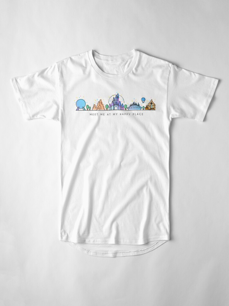 Alternate view of Meet me at my Happy Place Vector Orlando Theme Park Illustration Design Long T-Shirt