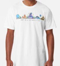 Treffen Sie mich bei meinem glücklichen Platz-Vektor-Orlando-Freizeitpark-Illustrations-Design Longshirt
