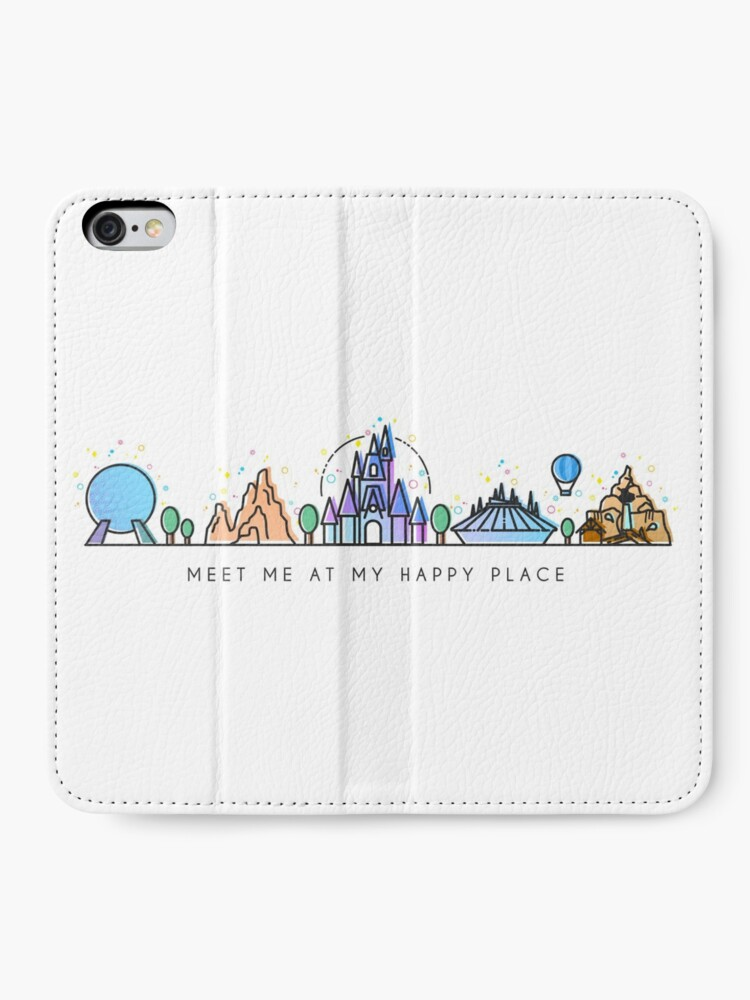 Alternate view of Meet me at my Happy Place Vector Orlando Theme Park Illustration Design iPhone Wallet
