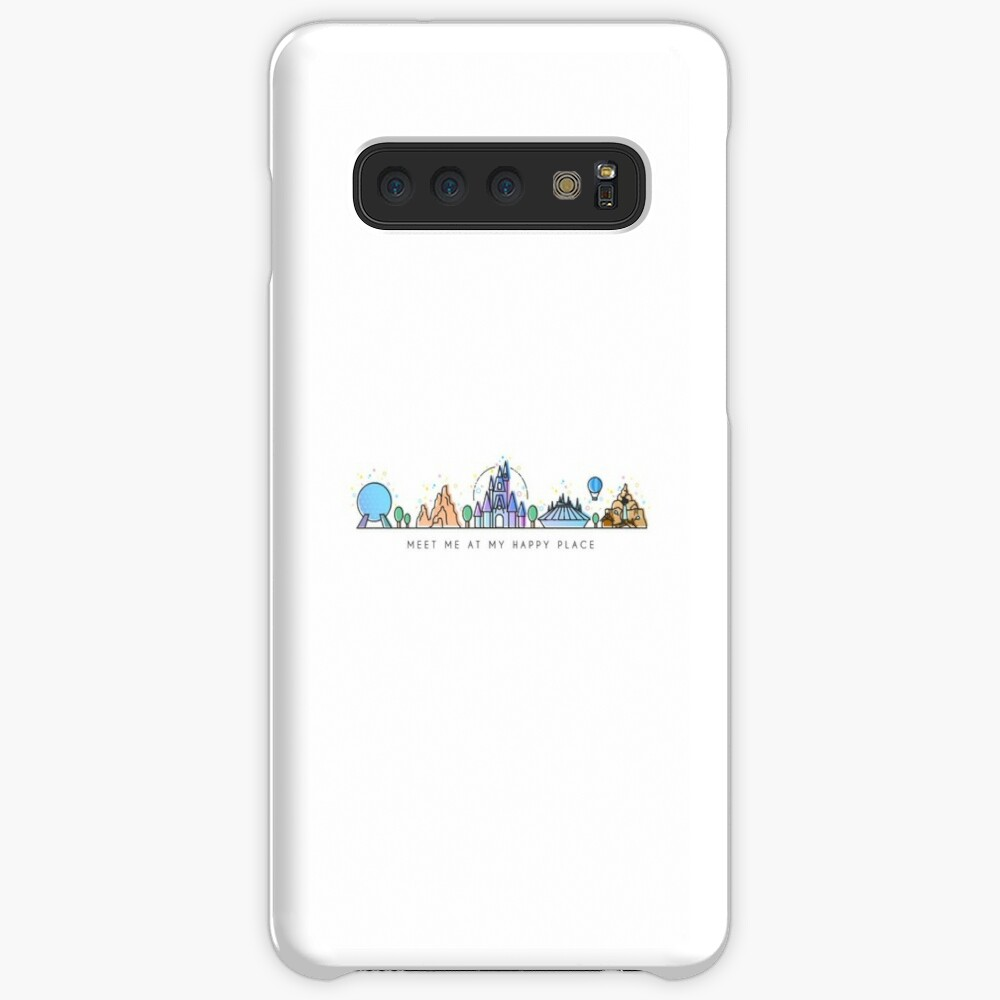Meet me at my Happy Place Vector Orlando Theme Park Illustration Design Cases & Skins for Samsung Galaxy