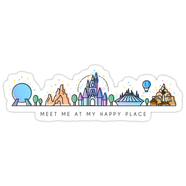 Quot Meet Me At My Happy Place Vector Orlando Theme Park