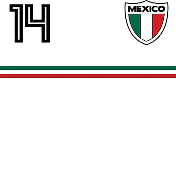 2018 Mexico Classic Jersey Soccer Team No. 14 Cup T Shirt by screenworks