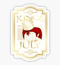Kings are born in July T Shirt Sticker