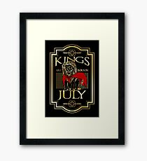 Kings are born in July T Shirt Framed Print