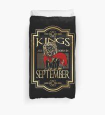 Kings are born in September T Shirt Duvet Cover