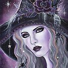Black Widow Witch art By Renee L Lavoie by Renee Lavoie