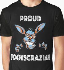 Proud Footscrazian (Footscray) Melbourne White Text Graphic T-Shirt