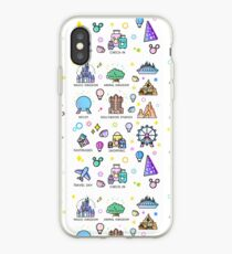 Meet me at my Happy Place Sticker Pattern iPhone Case