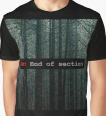 Art End of Section. Forest Camiseta gráfica