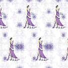 Pattern Purple Spring by Miss Style