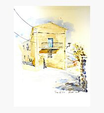 House in Navarra Photographic Print