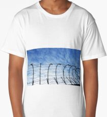 Barbed Wire with Sky Long T-Shirt