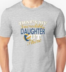 Volleyball Daughter, Mom & Dad Gift Unisex T-Shirt