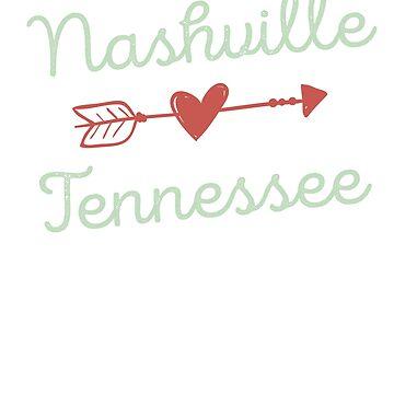 Nashville Tennessee Souvenir T-Shirt - Nashville Souvenir Apparel  by JustBeAwesome