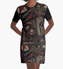 Absence Of Missed Opportunities Depopulates Future Nostalgias Graphic T-Shirt Dress