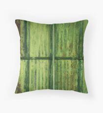 Green Erosion Throw Pillow