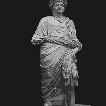 Statue of A Roman Priest Wearing A Toga Vector by taiche