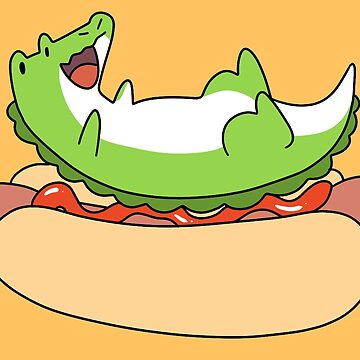 Giant Hotdog and Alligator by SaradaBoru