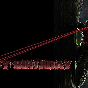 The Predator Birthday Card by ohwhaleeatcake