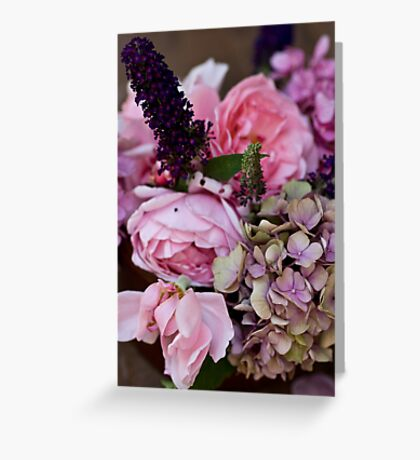 Petals attached Greeting Card