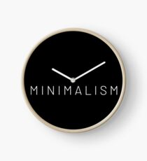 Minimalismus Uhr