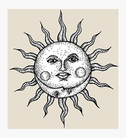The Sun & The Moon Photographic Print