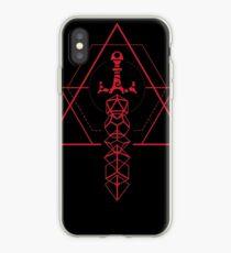 Polyhedral Dice Sword Set Geometric Symbols iPhone Case