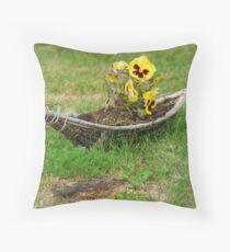 Extraordinary flowerpot Throw Pillow