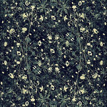 Dark Floral Collage Pattern by DFLCreative