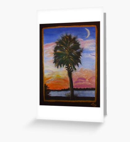 Palmetto Sunset Greeting Card