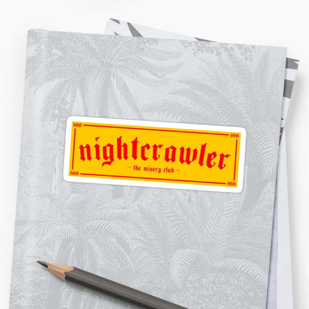 NIGHTCRAWLER - The Misery Club Yellow/Red  by nexus333