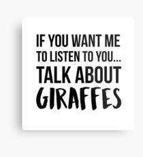 Talk About Giraffes Metal Print
