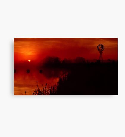 """Barwon Sunrise"" Canvas Print"