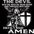 Knights Templar T-Shirt Crusader Warrior Amen  by MYCUPOFT