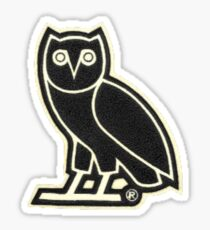 OVO Owl in Black Sticker