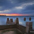 Castles in the Sand - Coogee Beach, NSW by Malcolm Katon