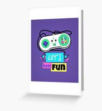 Retro Gamepad - Let's have fun Greeting Card