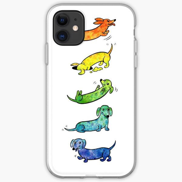 Dachshund Silhouette in Dark iPhone 11 case