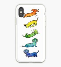 Watercolor Dachshunds iPhone Case