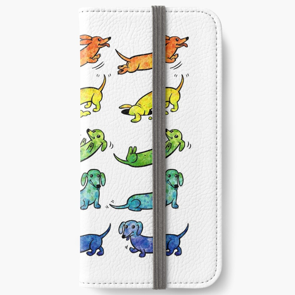 Watercolor Dachshunds iPhone Wallet