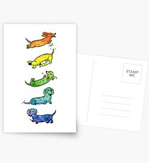 Watercolor Dachshunds Postcards