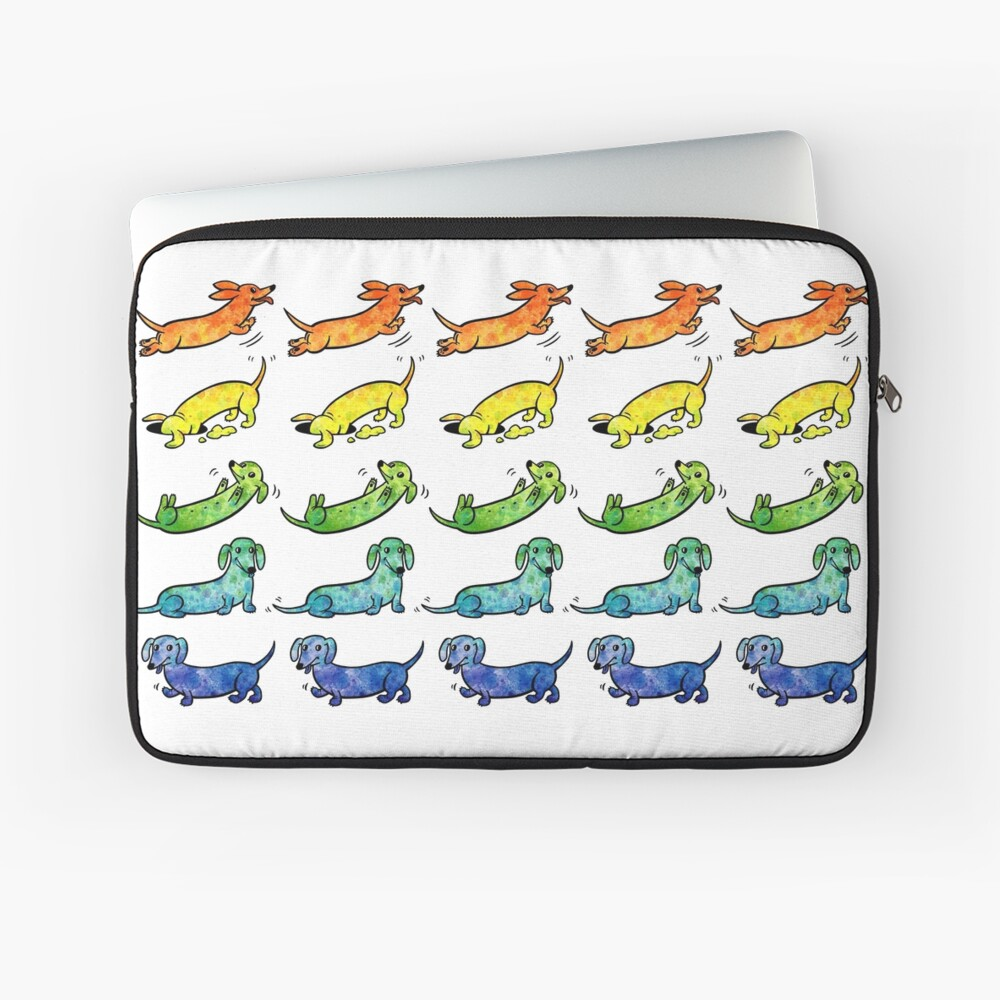 Watercolor Dachshunds Laptop Sleeve