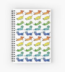 Watercolor Dachshunds Spiral Notebook