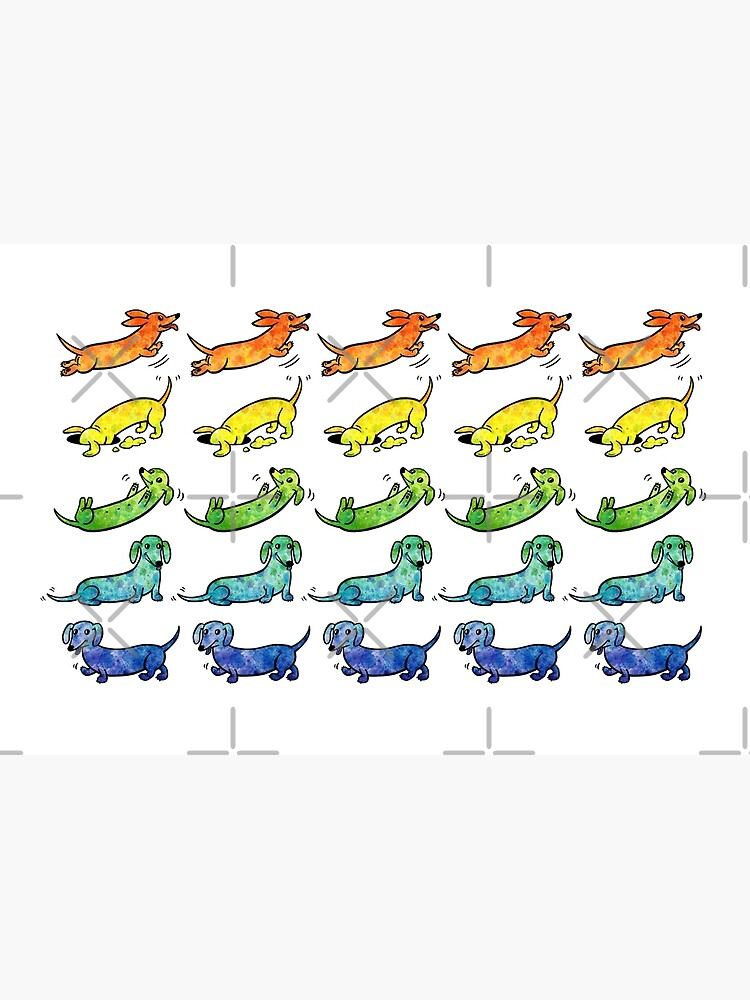 Watercolor Dachshunds by leslieevans2